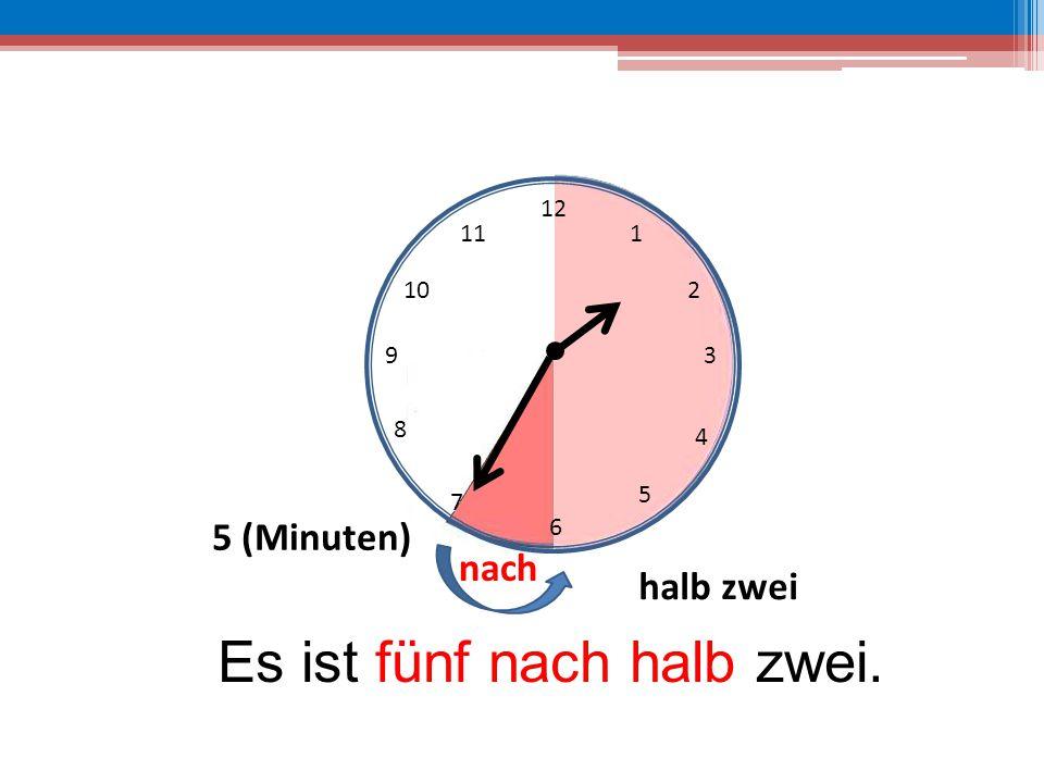 Es ist fünf nach halb zwei.