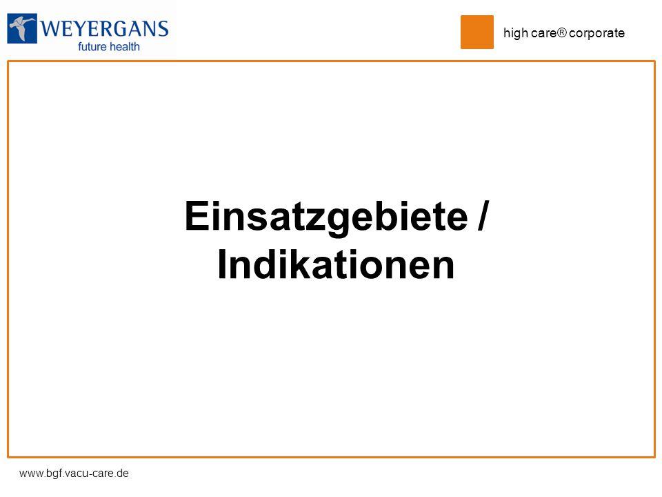 Einsatzgebiete / Indikationen