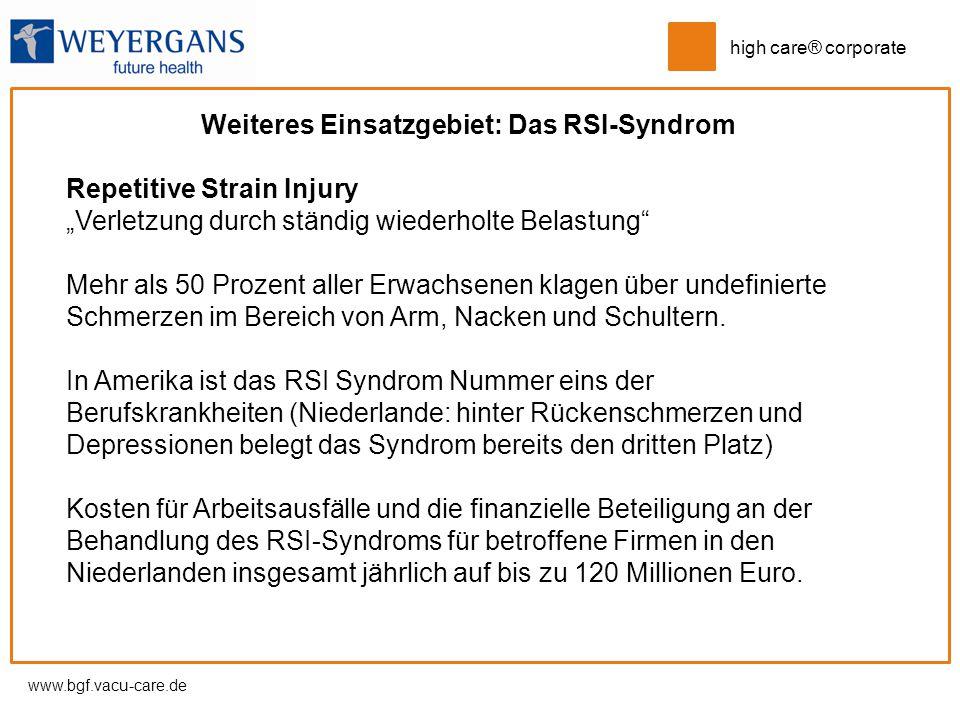 Weiteres Einsatzgebiet: Das RSI-Syndrom