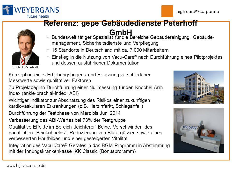 Referenz: gepe Gebäudedienste Peterhoff GmbH