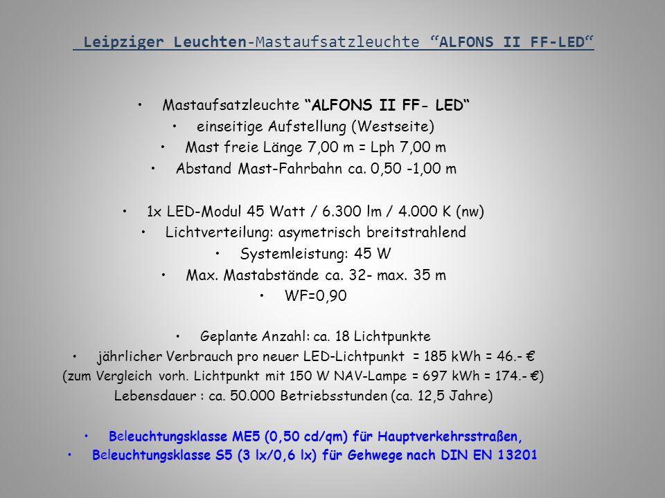 Leipziger Leuchten-Mastaufsatzleuchte ALFONS II FF-LED