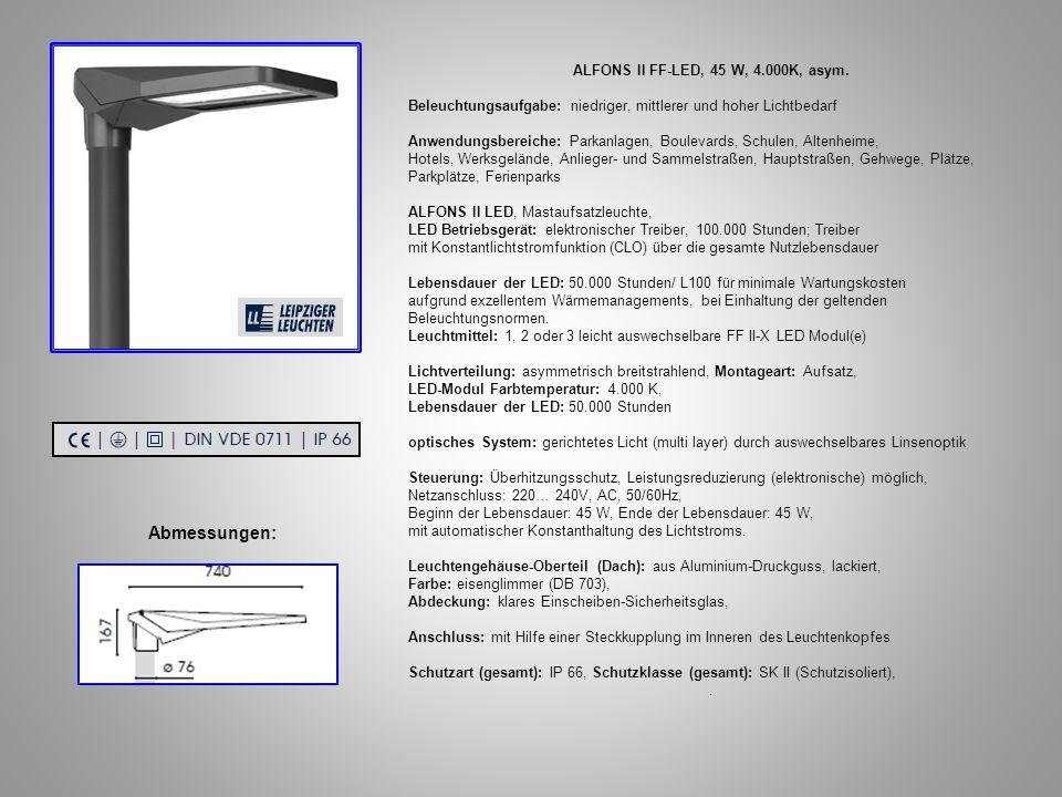 ALFONS II FF-LED, 45 W, 4.000K, asym.