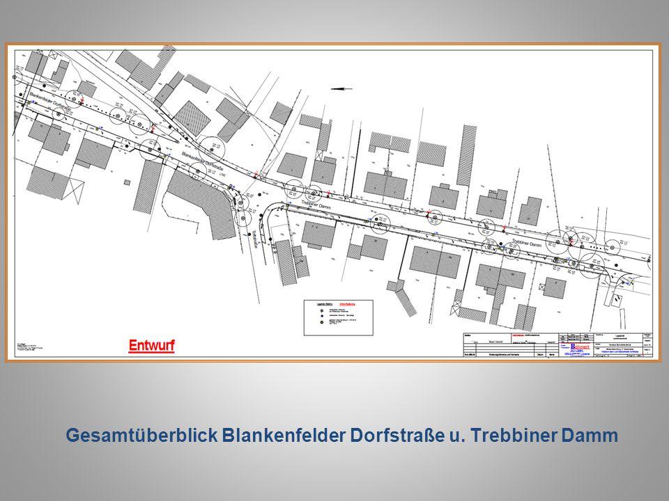 Gesamtüberblick Blankenfelder Dorfstraße u. Trebbiner Damm