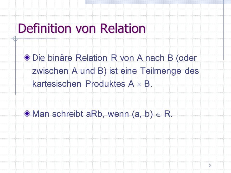 Definition von Relation