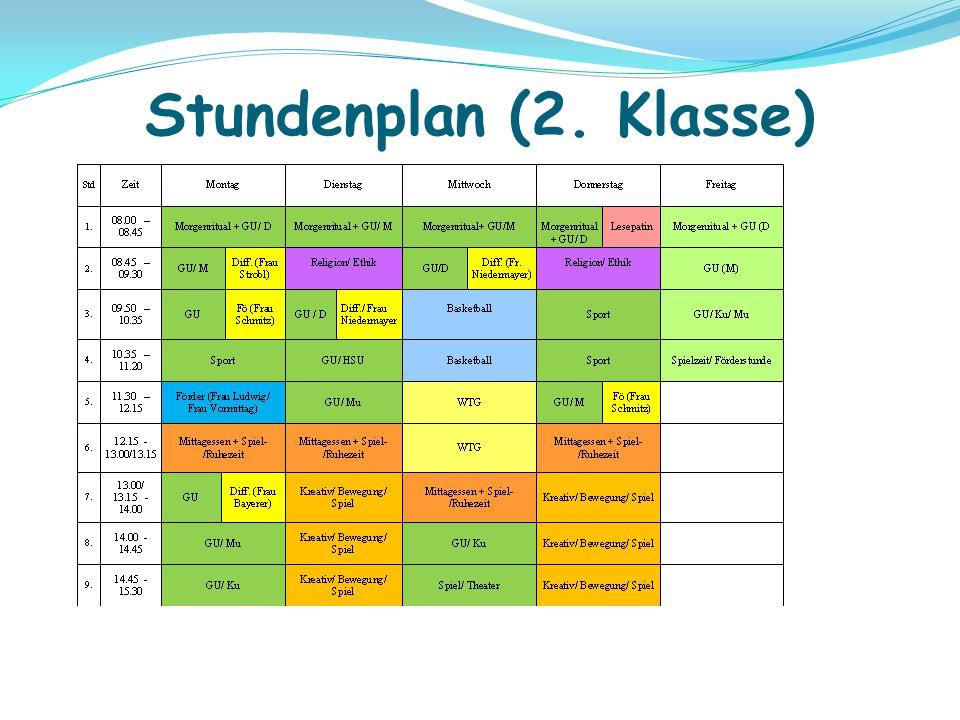 Stundenplan (2. Klasse)
