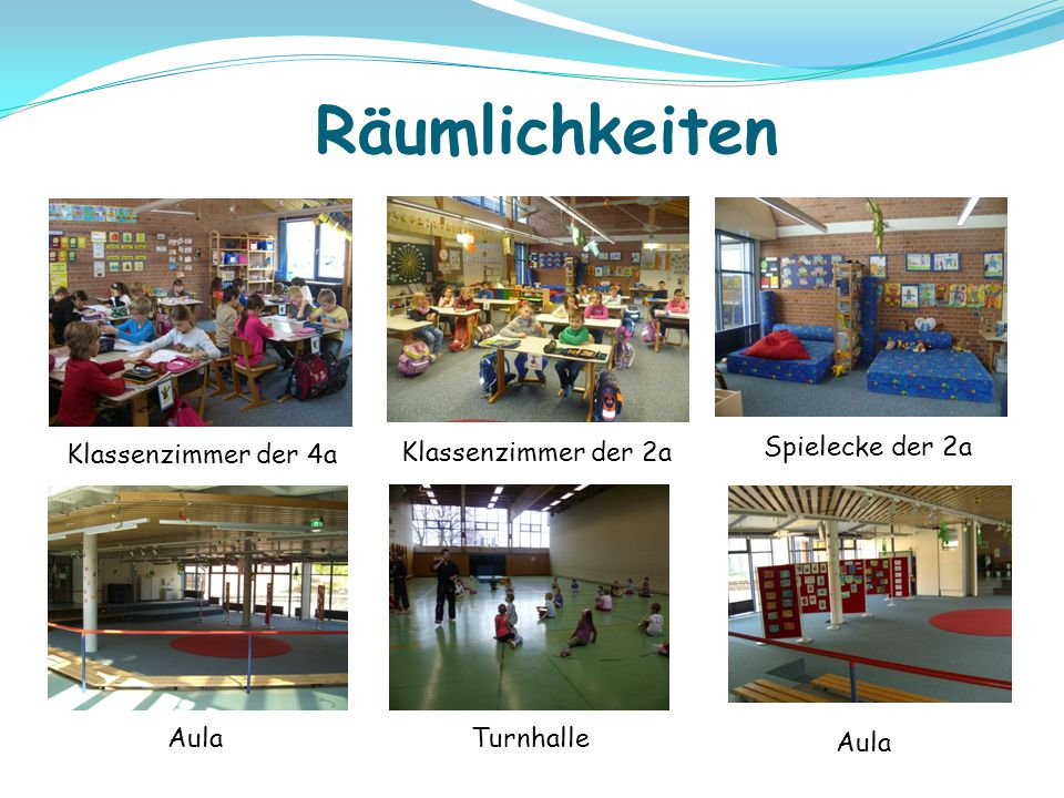 Räumlichkeiten Klassenzimmer der 4a Klassenzimmer der 2a