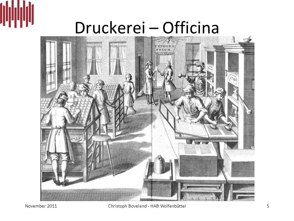 Druckerei – Officina Typographeum