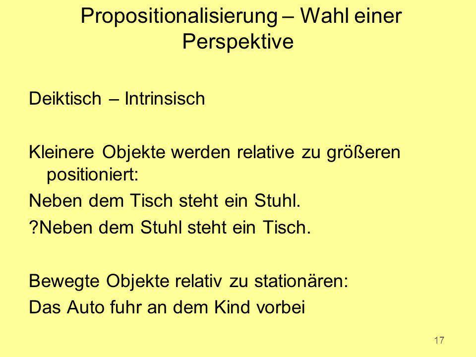 Propositionalisierung – Wahl einer Perspektive