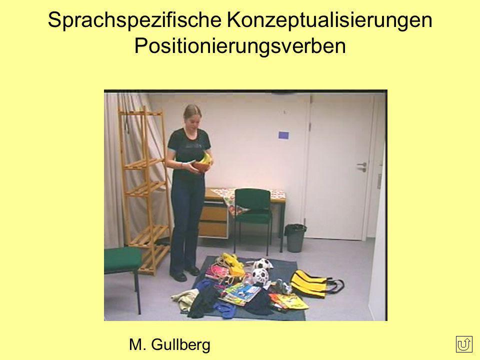 Sprachspezifische Konzeptualisierungen Positionierungsverben