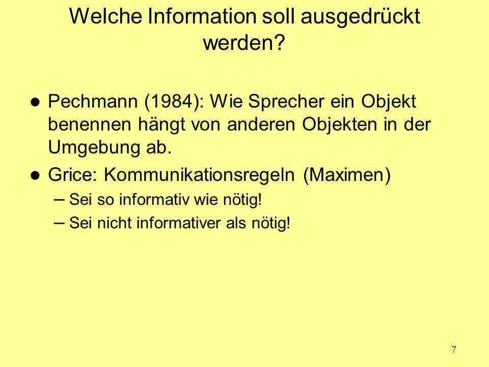 Welche Information soll ausgedrückt werden