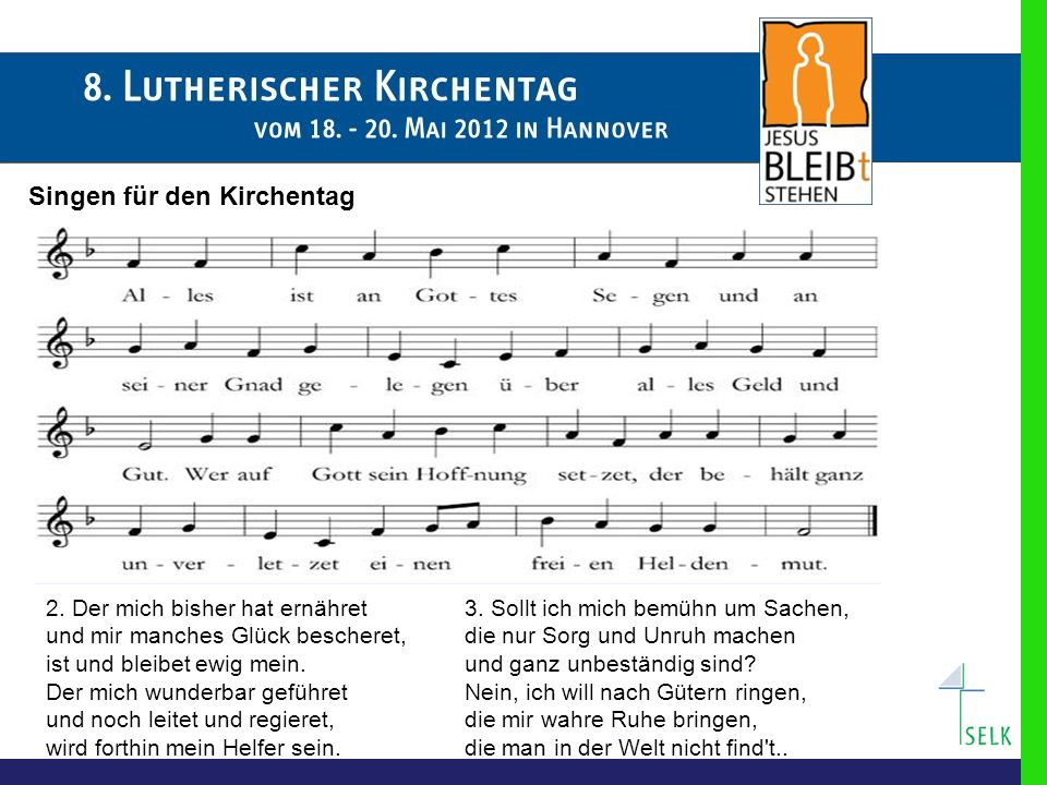 Singen für den Kirchentag