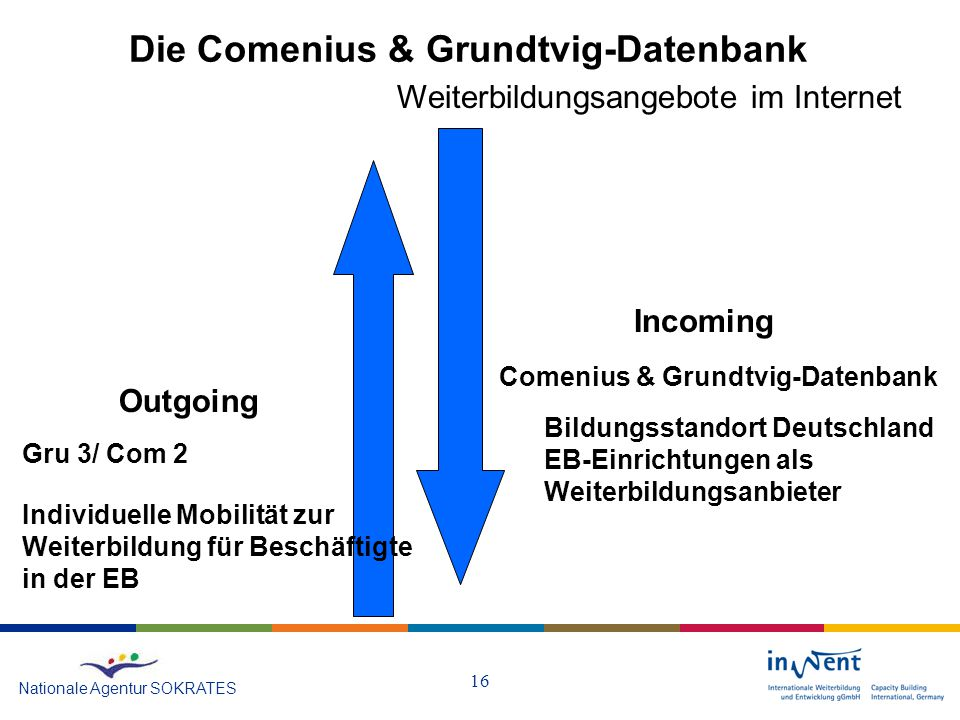 Die Comenius & Grundtvig-Datenbank