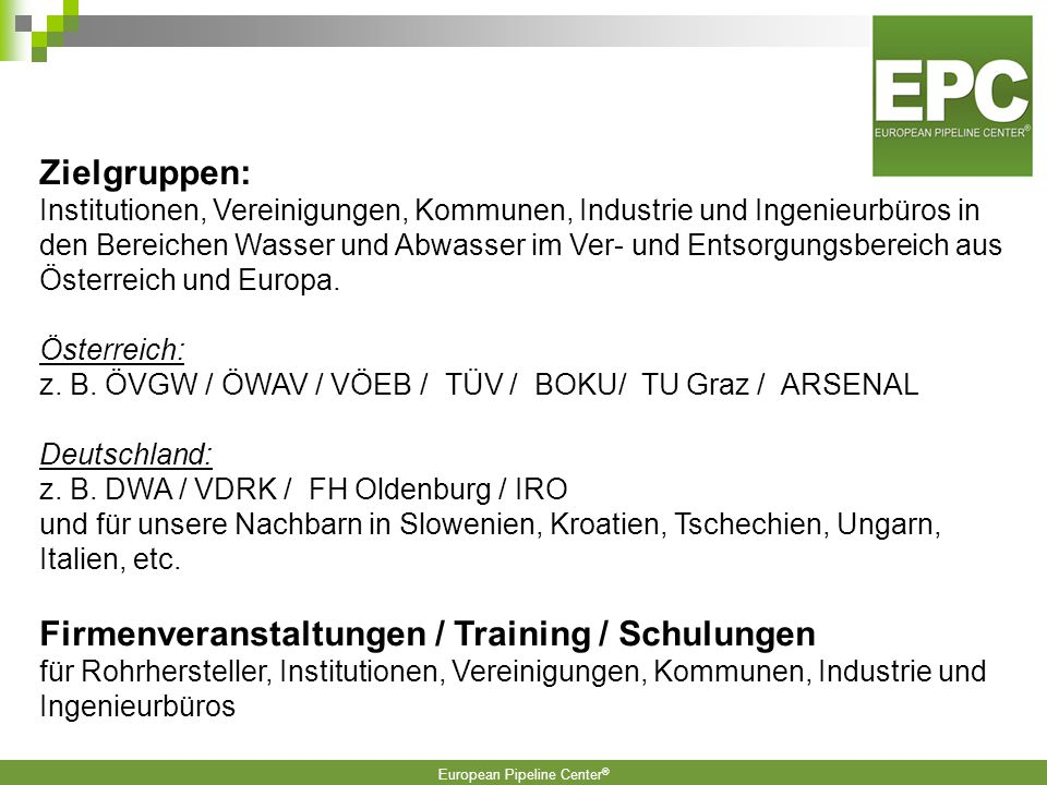 Firmenveranstaltungen / Training / Schulungen