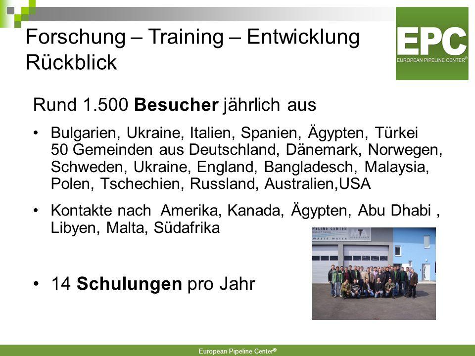 Forschung – Training – Entwicklung Rückblick