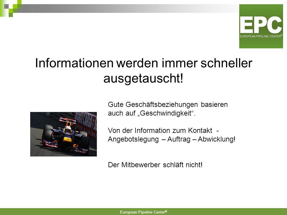 Informationen werden immer schneller ausgetauscht!
