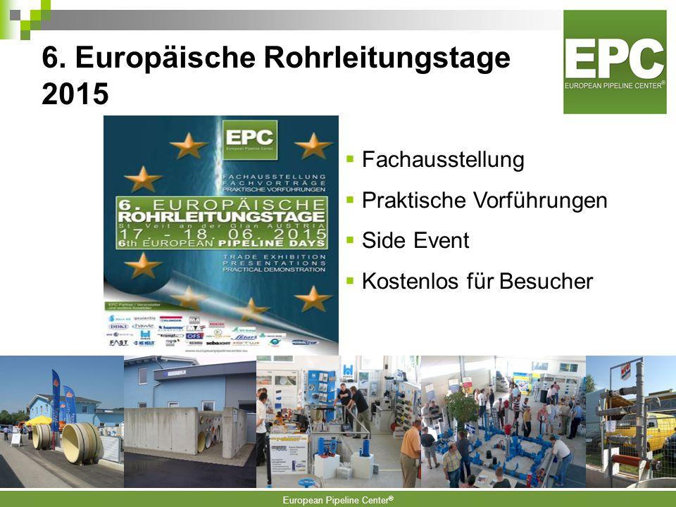 6. Europäische Rohrleitungstage 2015