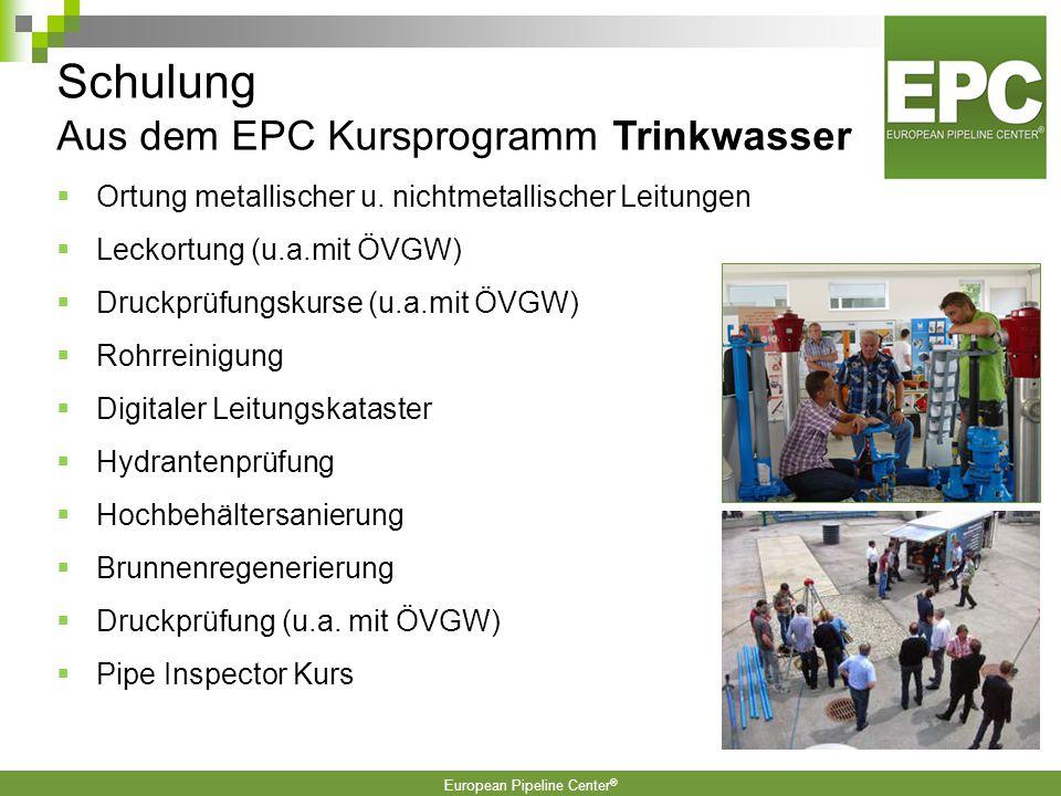 Schulung Aus dem EPC Kursprogramm Trinkwasser