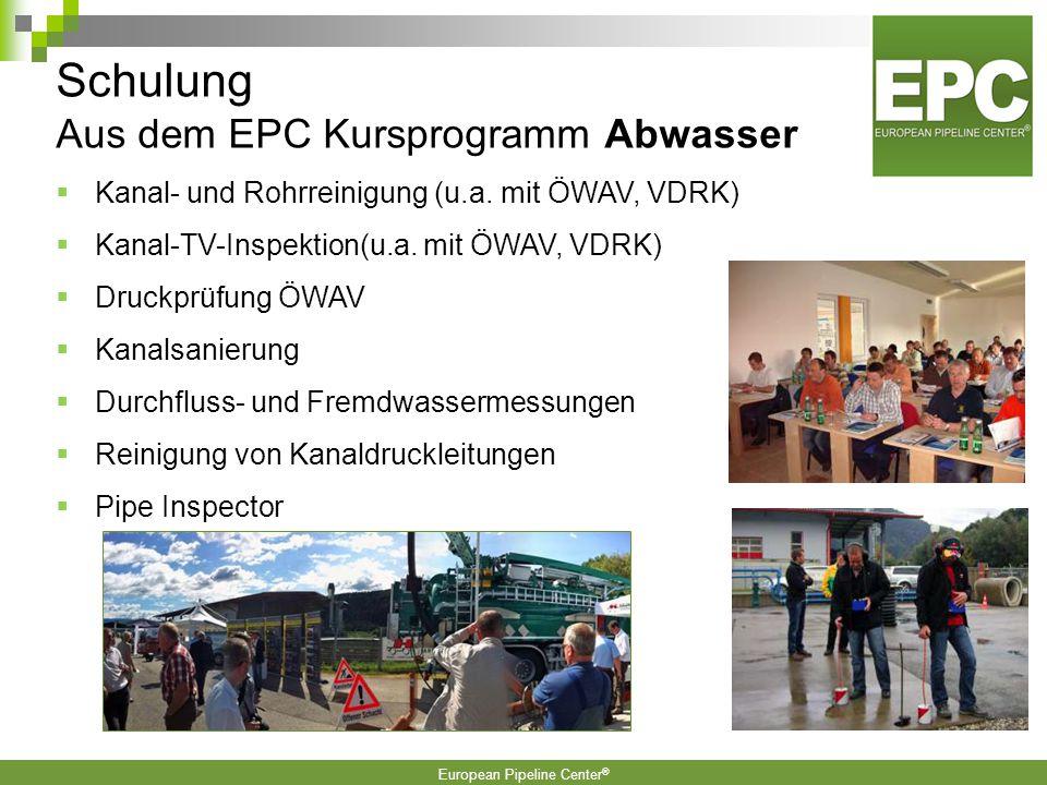 Schulung Aus dem EPC Kursprogramm Abwasser
