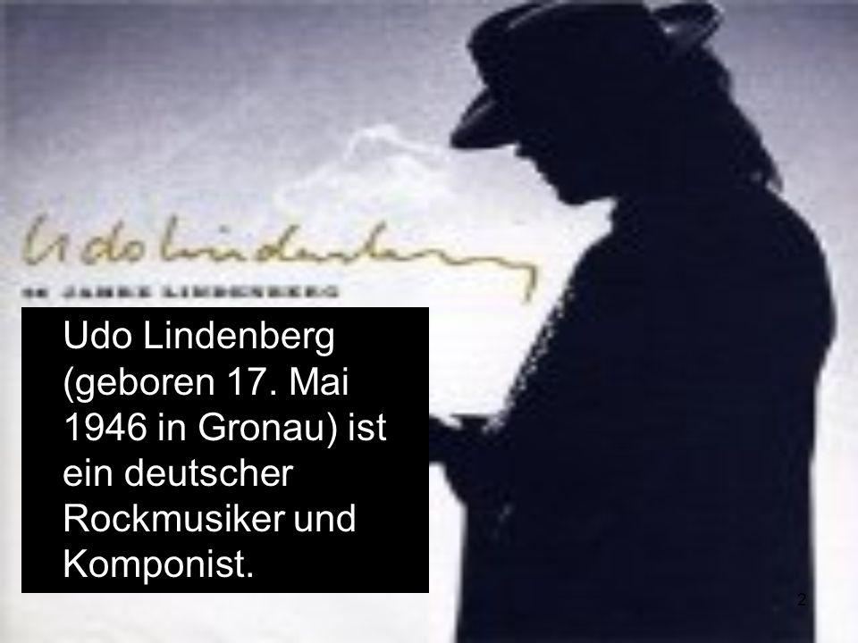 Udo Lindenberg (geboren 17
