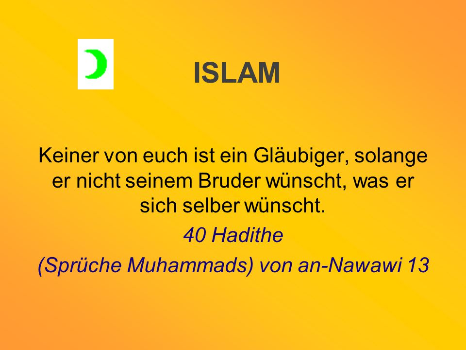 (Sprüche Muhammads) von an-Nawawi 13