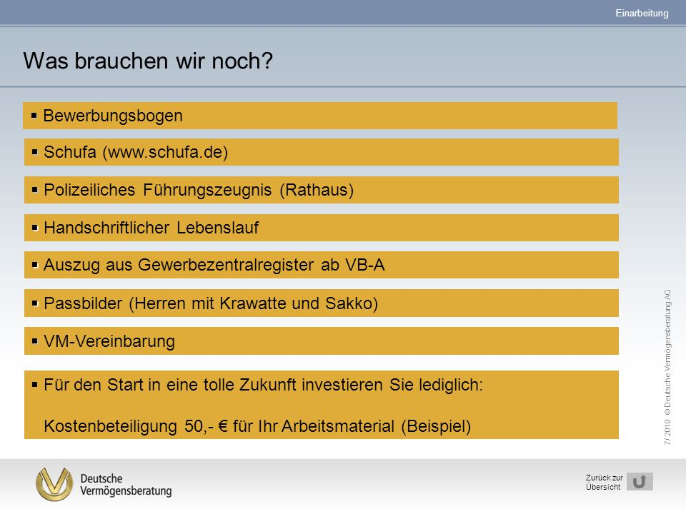 Was brauchen wir noch Bewerbungsbogen Schufa (www.schufa.de)