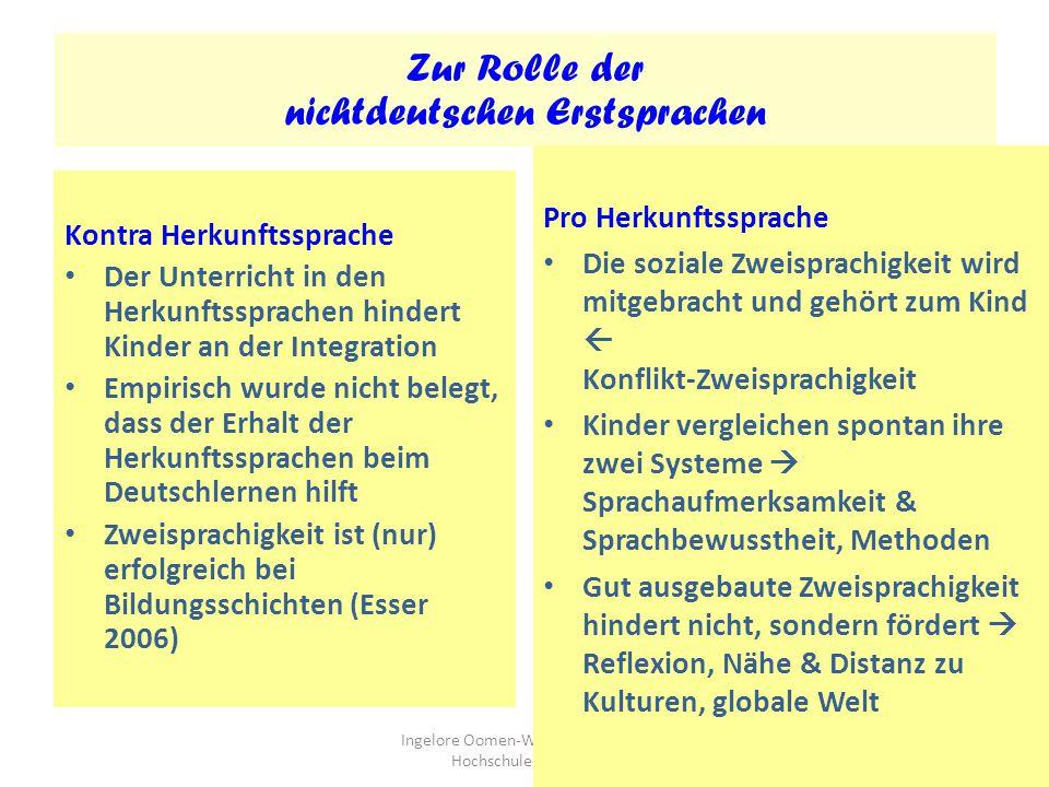 Zur Rolle der nichtdeutschen Erstsprachen