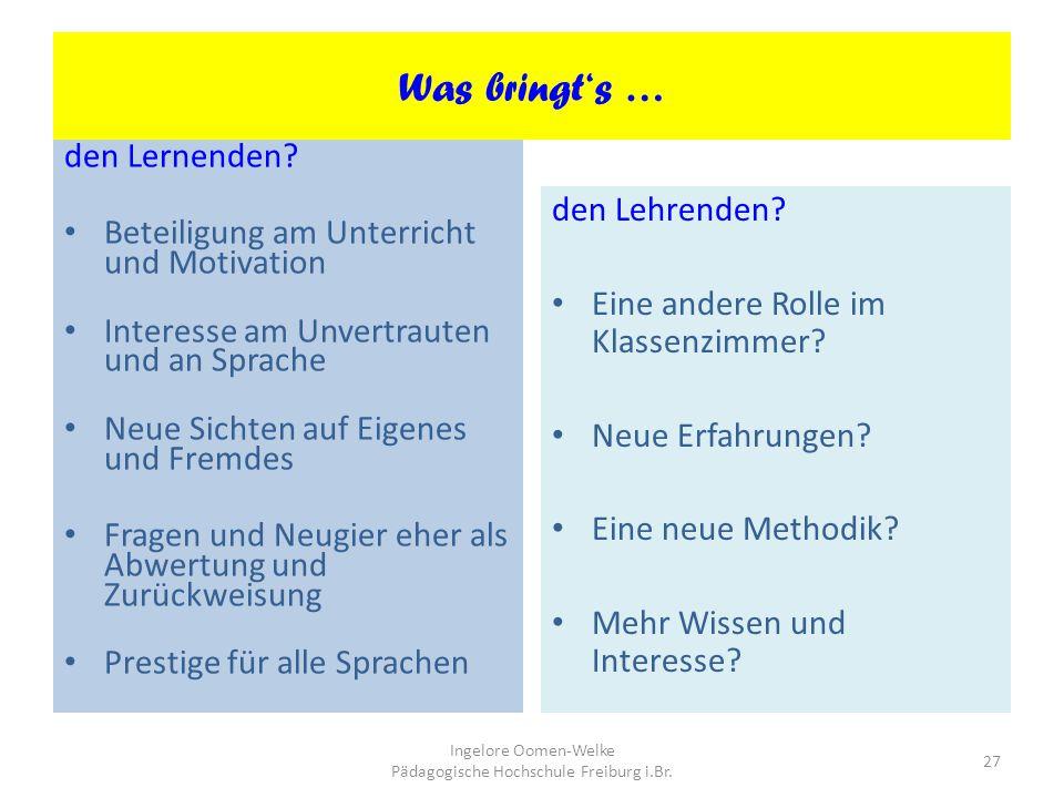 Ingelore Oomen-Welke Pädagogische Hochschule Freiburg i.Br.