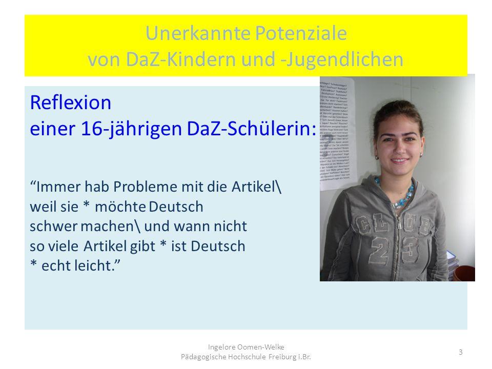 Unerkannte Potenziale von DaZ-Kindern und -Jugendlichen