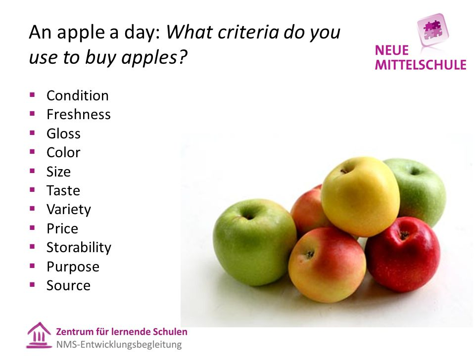 An apple a day: What criteria do you use to buy apples