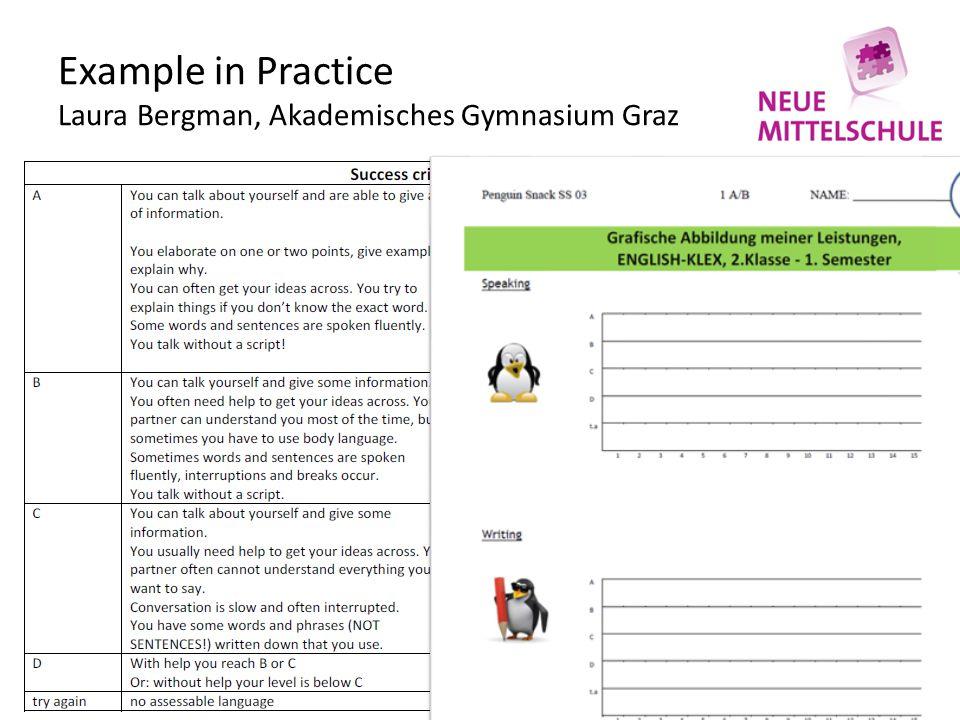 Example in Practice Laura Bergman, Akademisches Gymnasium Graz