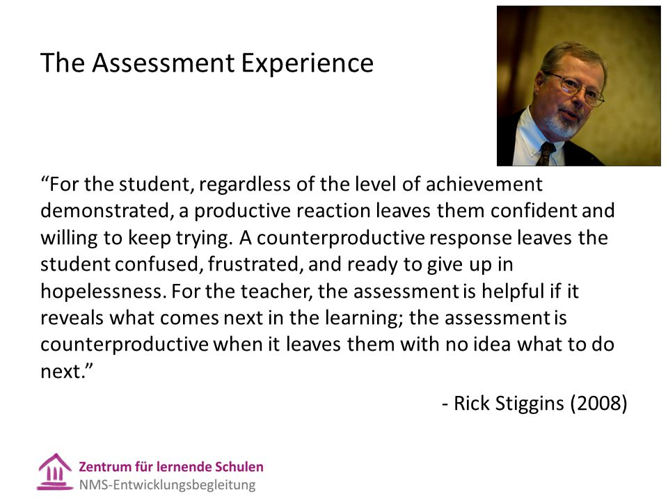 The Assessment Experience