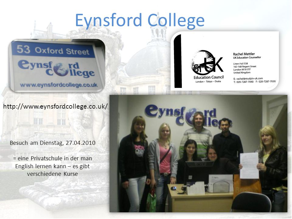 Eynsford College http://www.eynsfordcollege.co.uk/