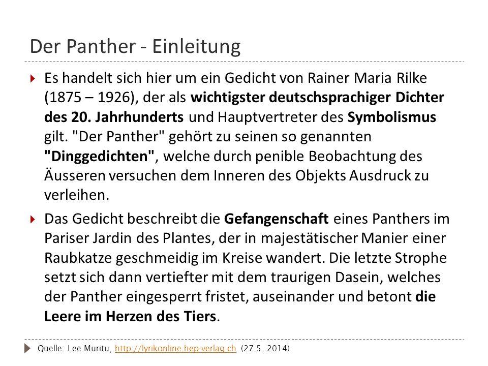 Der Panther - Einleitung
