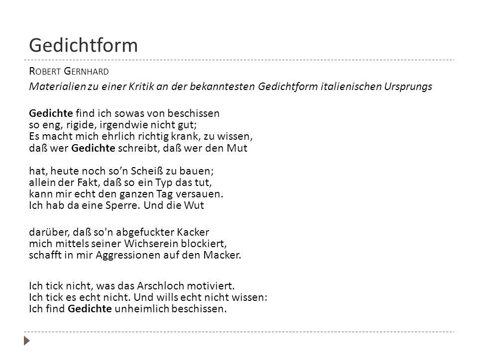 Gedichtform