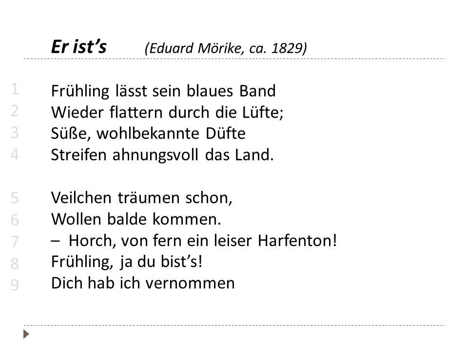 Er ist's (Eduard Mörike, ca. 1829)