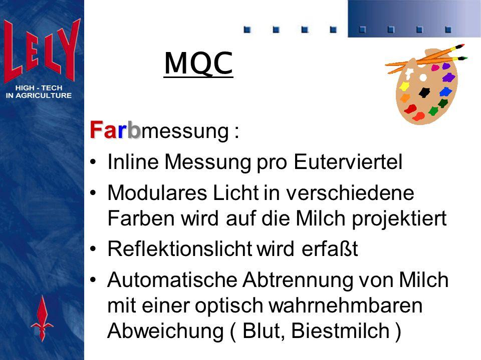MQC Farbmessung : Inline Messung pro Euterviertel