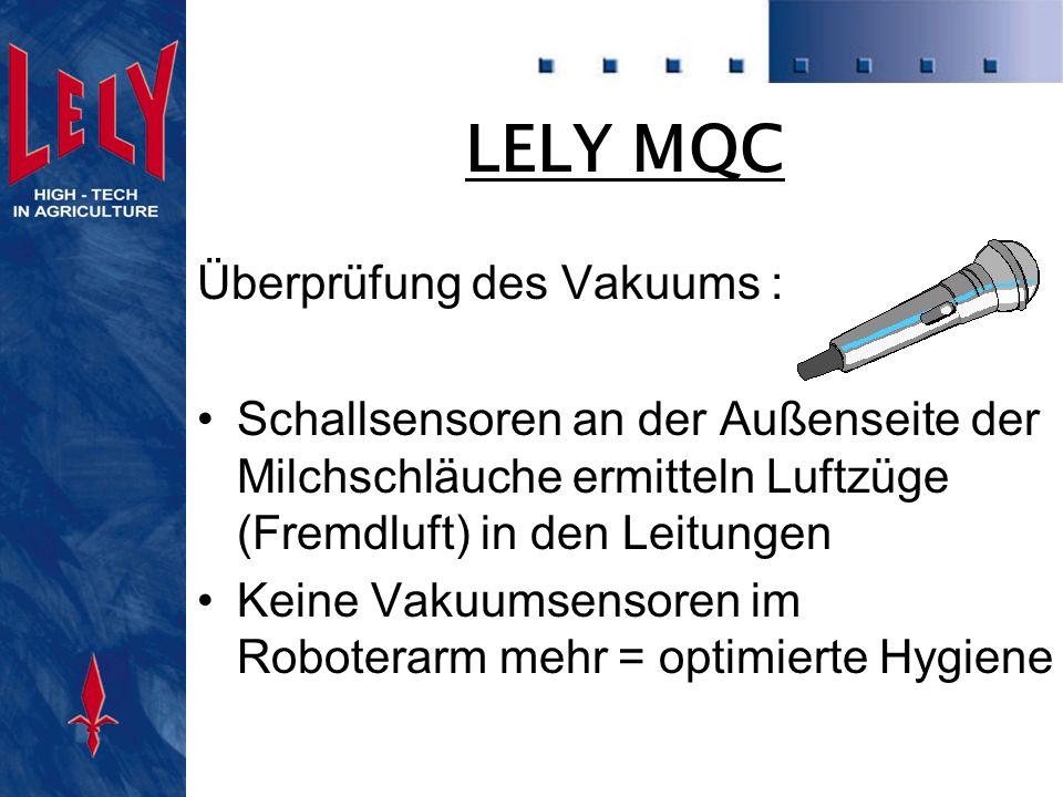 LELY MQC Überprüfung des Vakuums :