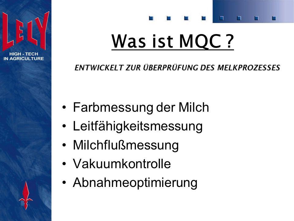 Was ist MQC Farbmessung der Milch Leitfähigkeitsmessung