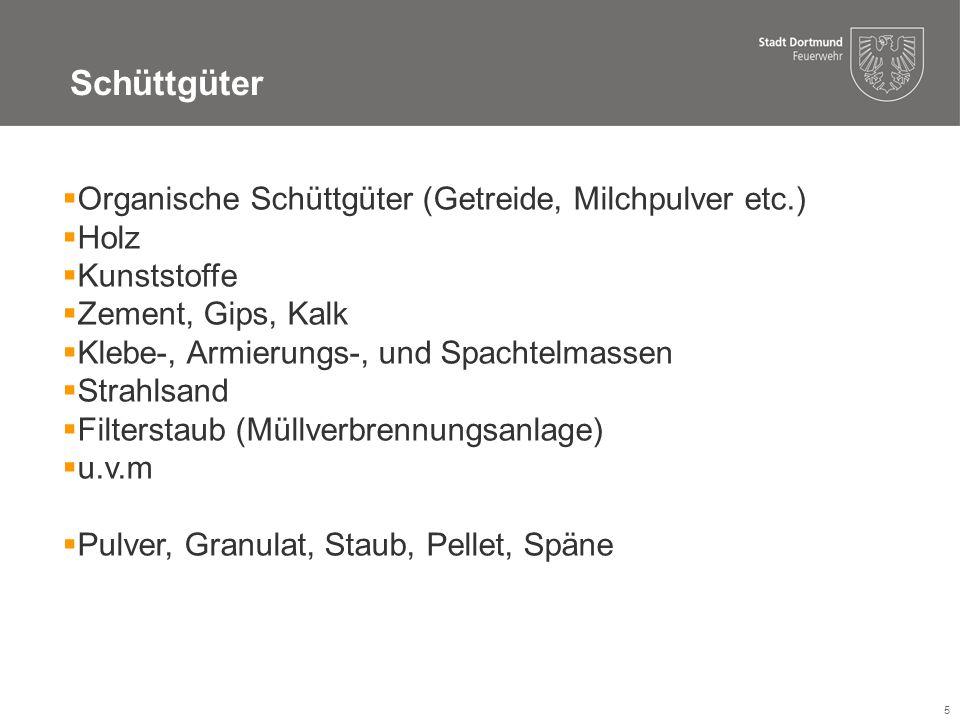 Schüttgüter Organische Schüttgüter (Getreide, Milchpulver etc.) Holz