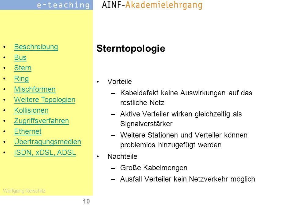 Sterntopologie Vorteile