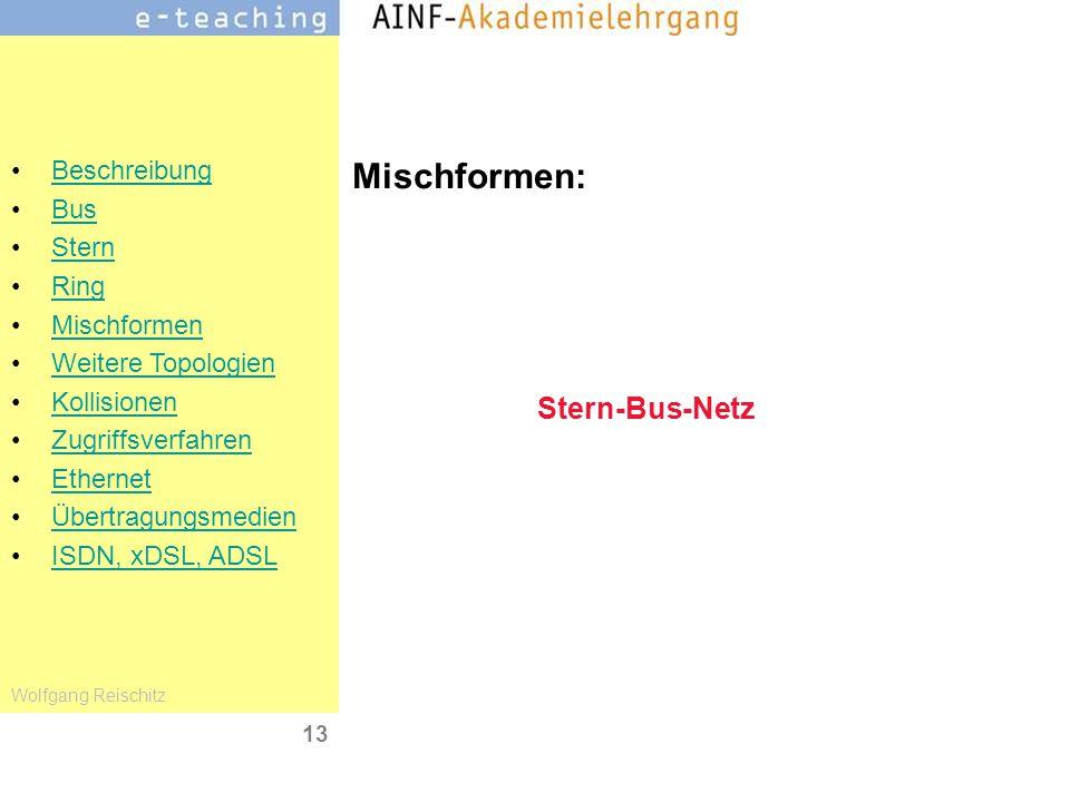 Mischformen: Stern-Bus-Netz