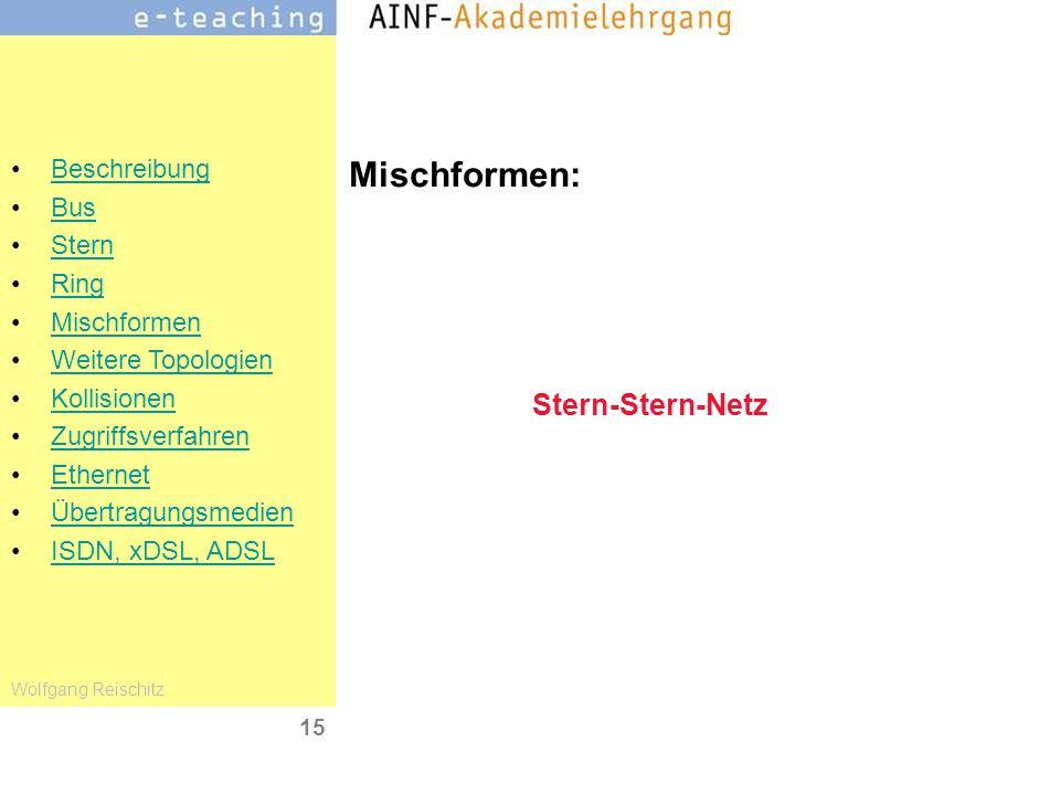 Mischformen: Stern-Stern-Netz