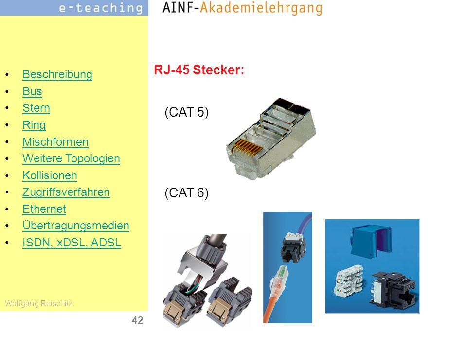 RJ-45 Stecker: (CAT 5) (CAT 6)