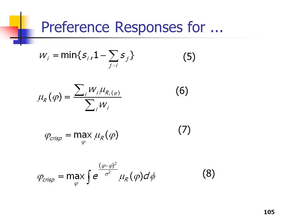Preference Responses for ...