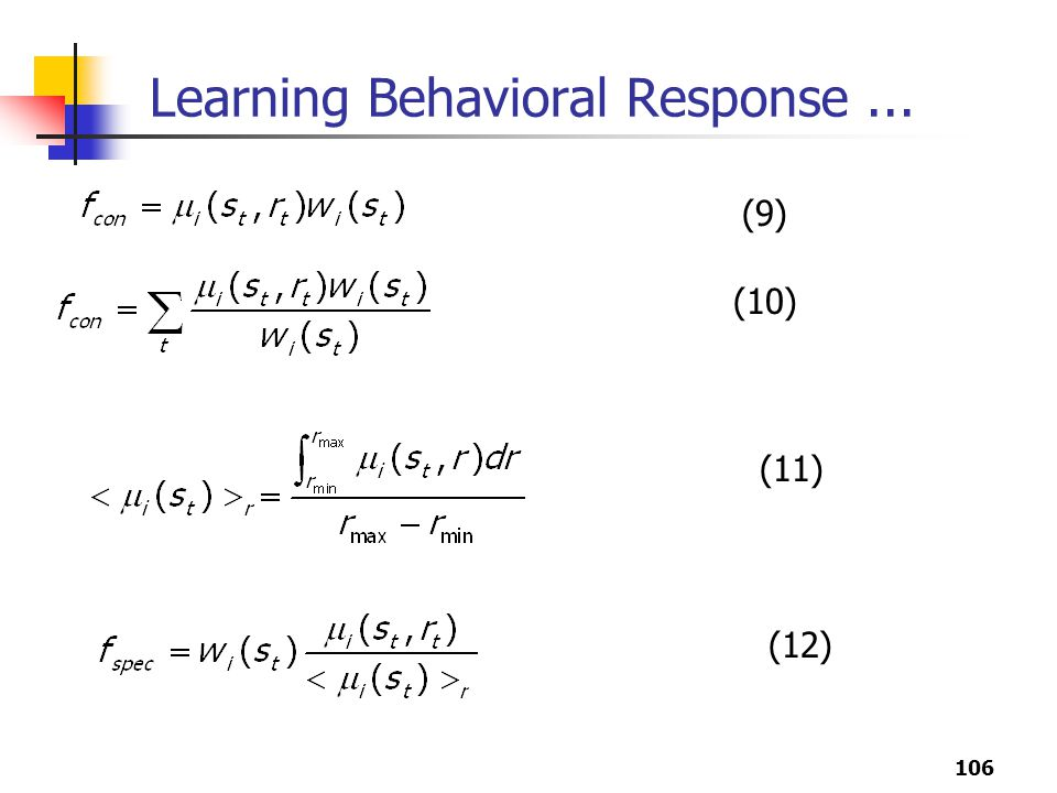 Learning Behavioral Response ...