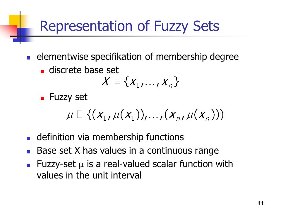 Representation of Fuzzy Sets
