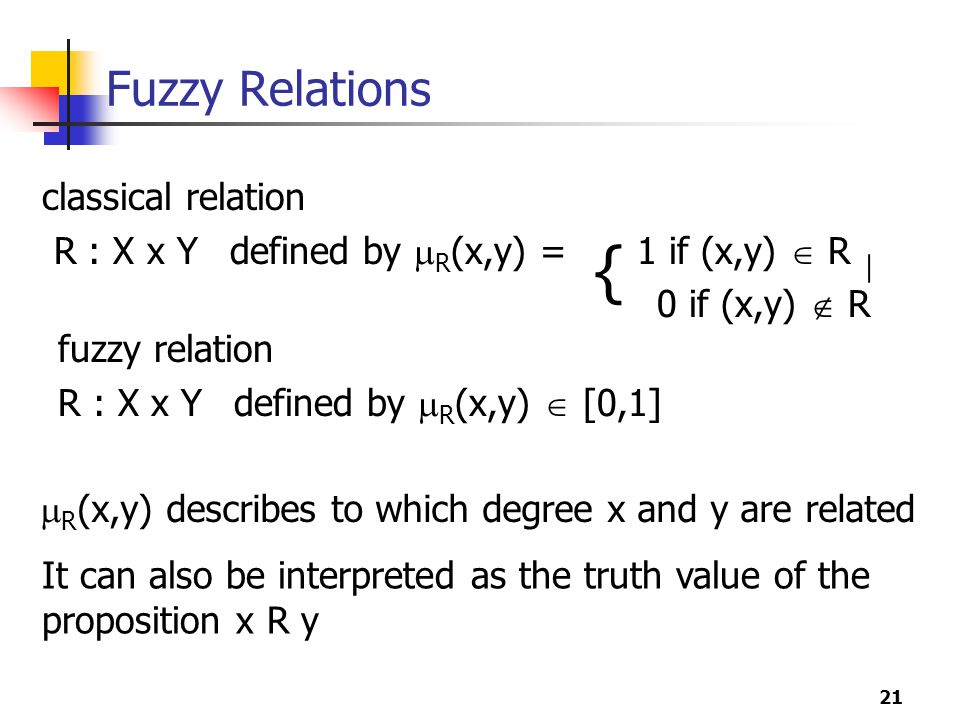 { Fuzzy Relations classical relation