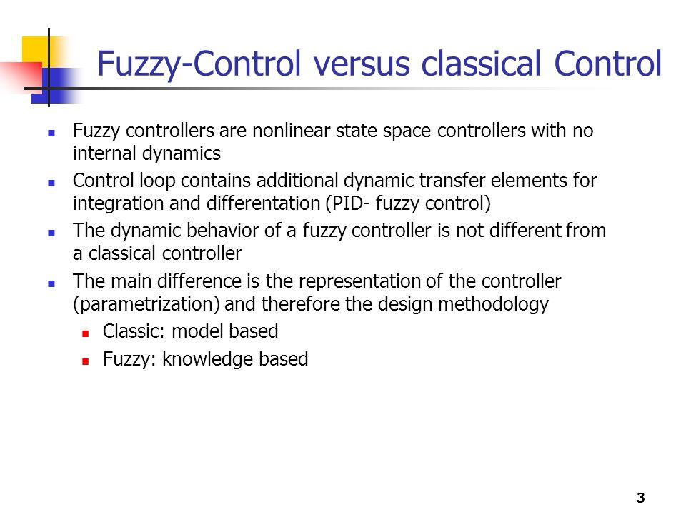 Fuzzy-Control versus classical Control