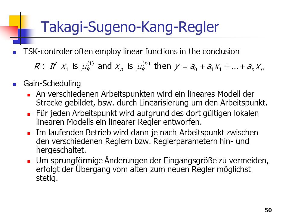 Takagi-Sugeno-Kang-Regler