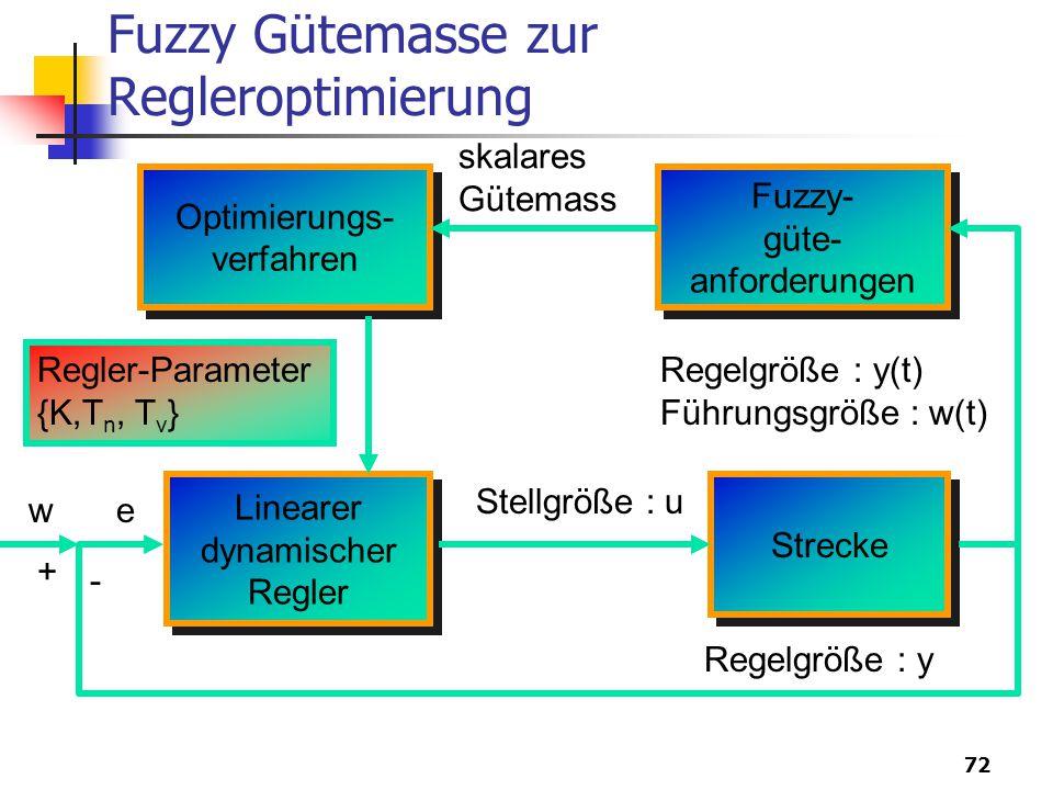 Fuzzy Gütemasse zur Regleroptimierung